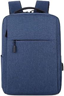 Mochila para portátil Resistente al Agua Mochila con Puerto de USB Multifuncional Mochila de Gran Capacidad para Hombre Mujer Azul Talla única