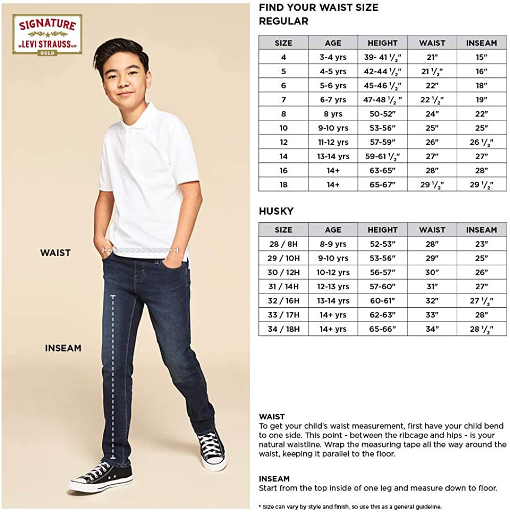 Signature by Levi Strauss & Co. Gold Label Boys Core Skinny Jeans: Clothing, Shoes & Jewelry