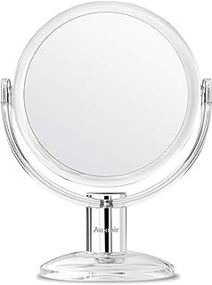 Auxmir Miroir Maquillage de Table à Double Face Miroir Grossissant X1/X10 Miroir Cosmétique avec Rotation à 360 ̊ pour Maq...
