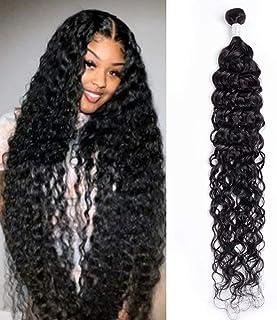 Maxine 10A Water Wave Bundles Hair Wet and Wavy Brazilian Virgin Human Hair 1 Bundle 24 inch Unprocessed Brazilian Hair We...