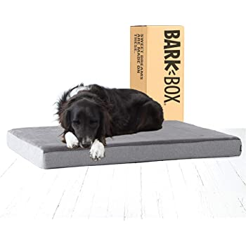 "Barkbox Memory Foam Platform Dog Bed | 3"" High-Density Foam Mattress for Orthopedic Joint Relief 