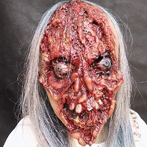 MTnoble Suministros de Fiesta de Halloween/Horror Mascarilla de Fantasma de Pelo Largo/máscara ártica/Mascarilla de la Cara sangrienta
