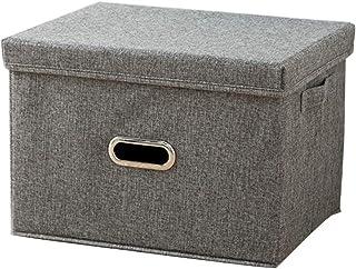 YUANP Boîte De Rangement Grands Bacs De Panier De Rangement De Vêtements en Tissu De Lin Pliable Organisateur De Boîte à J...
