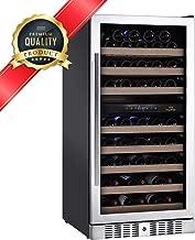 KingsBottle KBU-270D (RHH) 73 Bottle Dual Zone Stainless Steel Wine Refrigerator with Glass Door