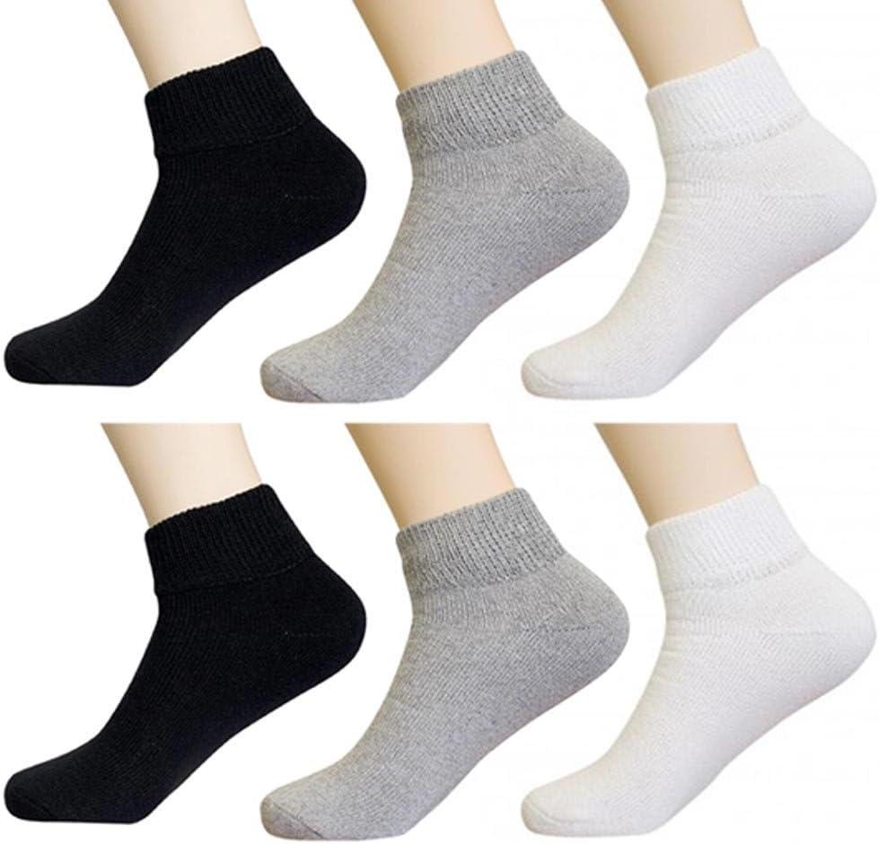 6 Pair Diabetic Ankle Circulatory Health Loos Support Mens Popular brand in the world half Socks