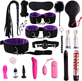 SLH Bundle Binding Set of 20 Sets Toy Handcuffs Key Police Role-Playing Party Supplies Role-Playing Clothing Accessories Pretend to Play Children's Handcuffs