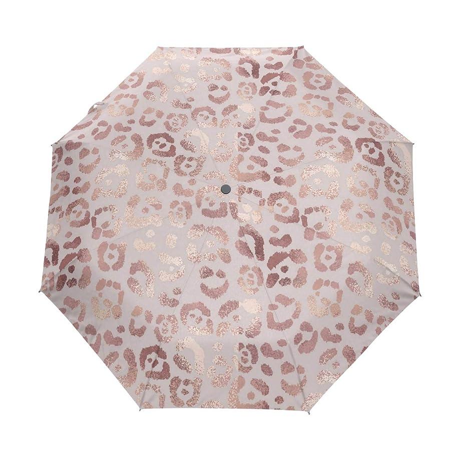 Rose Gold Lipstick Print Umbrella Auto Open Close Compact Travel Umbrella - Windproof, Ergonomic Handle Windproof Travel UV Umbrella
