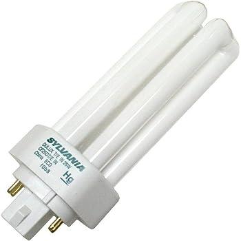 82 CRI 4-Pack 2400 Lumens Sylvania 20884 3000K CF32DT//E//IN//830//ECO 32-Watt Triple Tube Compact Fluorescent Light Bulb 4-Pin GX24q-3 Base T4 Shape