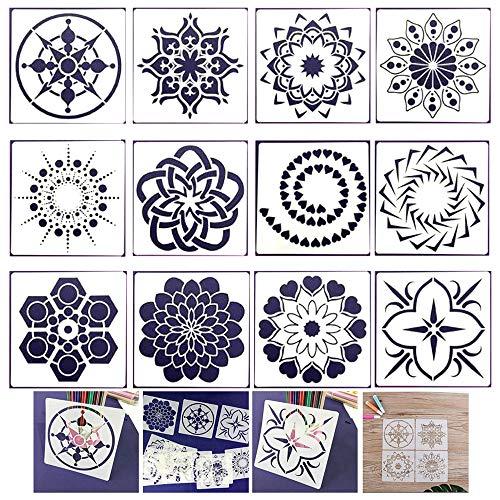 Xinlie Plantillas diseño de Mandala Plantillas de Pintura de Puntos Plantilla de...
