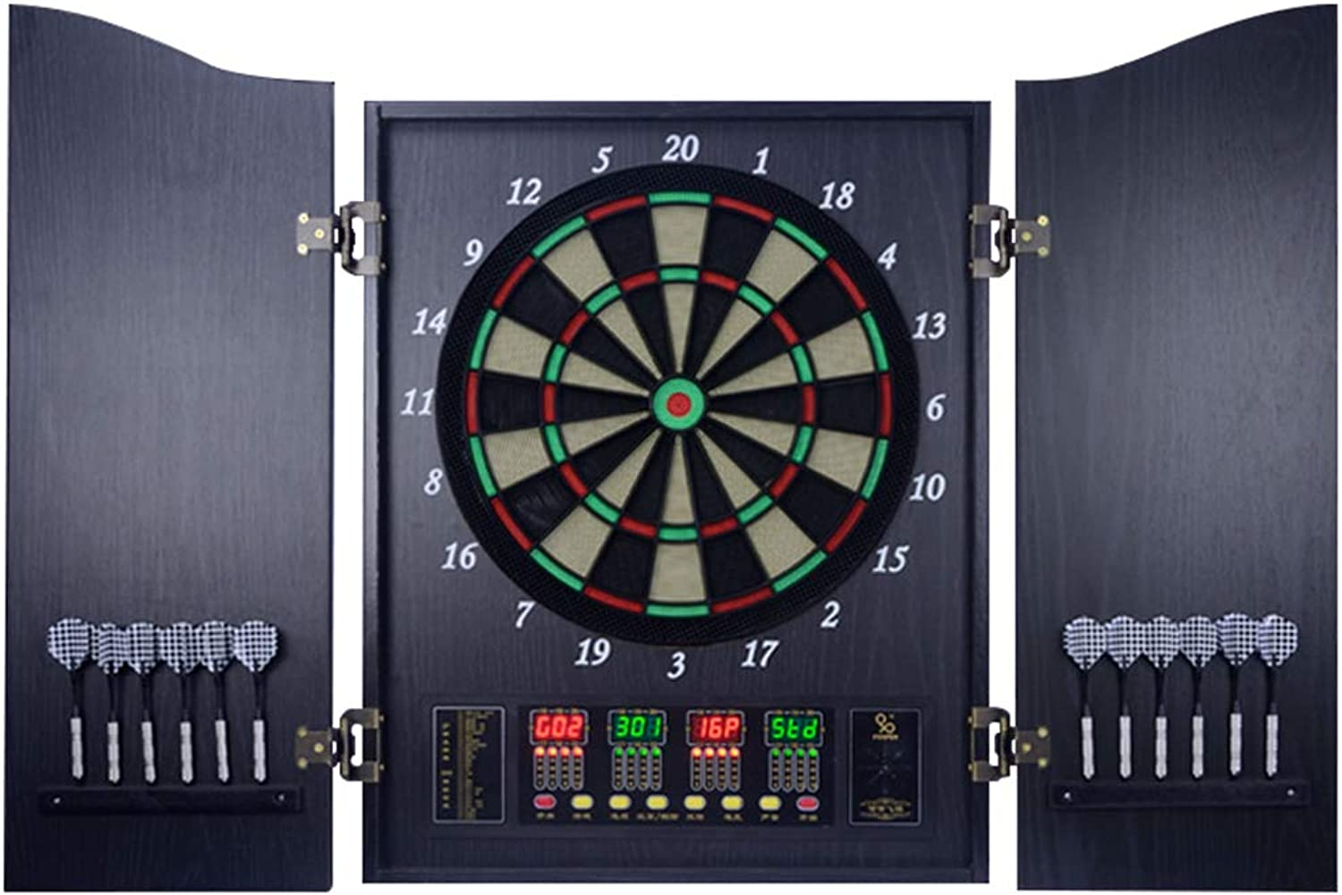 Electronic Dartboard, Electronic Soft Tip Dartboard Cabinet Set,Segments for Improved Durability and Playability Mulitplayer for Up to 16 Players