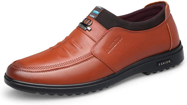 dffd5bb5a6e27 Men's Leather Dress shoes Breathable shoes Men's Version Of The ...