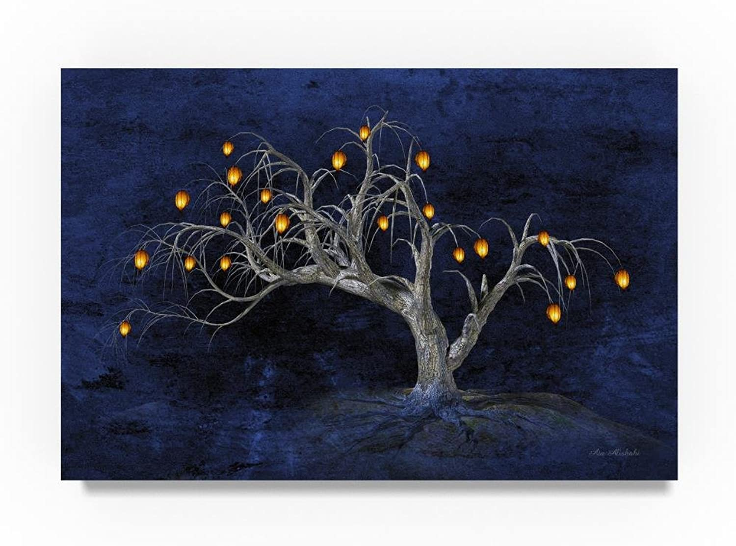 Trademark Fine Art Ata Alishahi Tree of Life Wall Décor, 12 x 19