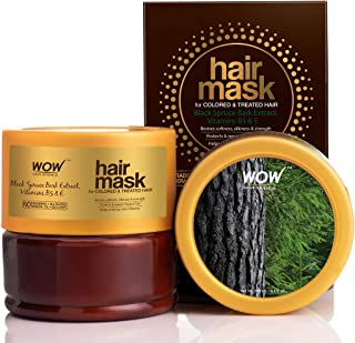 WOW Skin Science Black Spruce Bark Extract, Vitamin B5 & E Hair Mask for Colored & Treated Hair, 200mL