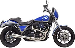 Bassani Xhaust 90-93 Harley FXRS-Conv Road Rage 3 2-Into-1 Exhaust System (Stainless Steel)