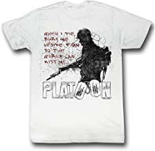 2Bhip Platoon When I Die Bury Me Upside Down Adult White T-Shirt