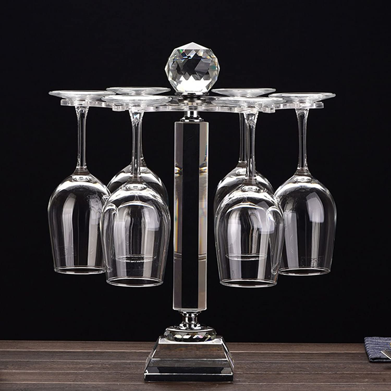 Tony home- Creative European Wine Rack Upside Down Home Crystal Wine Glass Holder Upside Down Cup Holder Wine Cabinets
