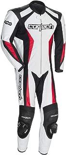 Cortech XF-10-8991-0209-06 Latigo 2.0 Leather RR One-Piece Suit, Distinct Name: White/Black/Red, Gender: Mens/Unisex, Primary Color: White, Size: Lg