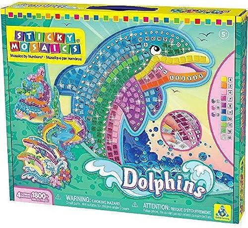 Sticky Mosaics Dolphins by Sticky Mosaics Dolphin
