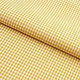 Hans-Textil-Shop Tela por metros Vichy a cuadros, 2 x 2 mm, algodón, color amarillo, para casa rústica, decoración, costura o manualidades, cuadros con patrón de cuadros