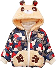 Willsa Baby Girls Jacket, Toddler Camouflage Print Winter Warm Hooded Windproof Coat