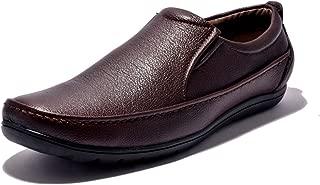 Sir Corbett Men's Synthetic Brown Formal Slip On Shoes