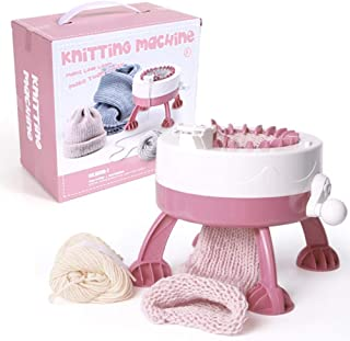 Knitting Machine, 22 Needles Smart Weaving Loom Round Knitting Machines, Knitting Board Rotating Double Knit Loom for Soc...