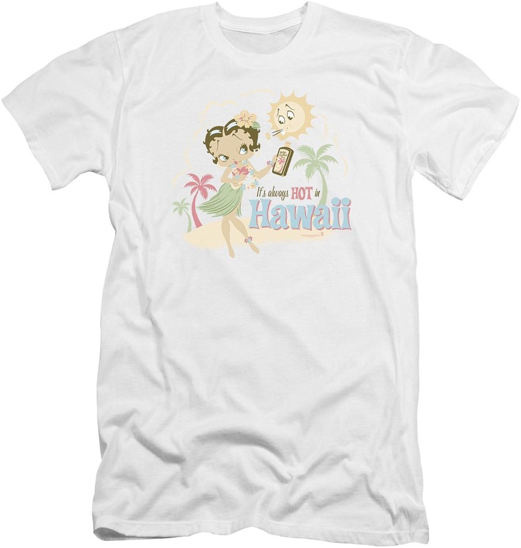 Betty Boop  Mens Hot in Hawaii Premium Slim Fit TShirt