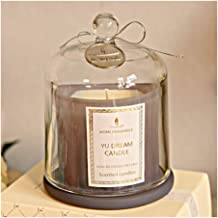 ZCDZJXB Romantic Wedding Candle Birthday Aromatherapy Beautiful Halloween Candle Candle Holder Glass Home Decoration Flame...