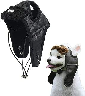 Lifeunion Classical Pet Dog Fleece Aviator Hat Winter Warm Pet Leather Trapper Pilot Costume Hat Cap