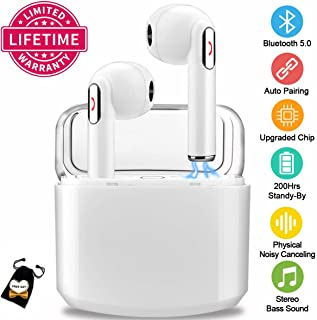 $35 Get Wireless Earbuds with Charging Case,Bluetooth Earbuds with Mic for Running,Wireless Earphones Bluetooth Earphones with Microphone,Mini Sports Earbuds Sweatproof Compatible iOS Android Smartphone