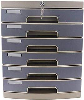 Module de rangement Dossier plat Armoires vertical 6 tiroirs de bureau de données Boîte de rangement Key Lock Cabinet Offi...