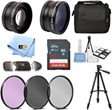 BP Accessory Kit for Canon Rebel T7, T7i, T6, T6i, T5, T5i SL1, SL2, SL3, EOS 70D, 77D, 80D 90D DSLR Camera Includes 58mm ...