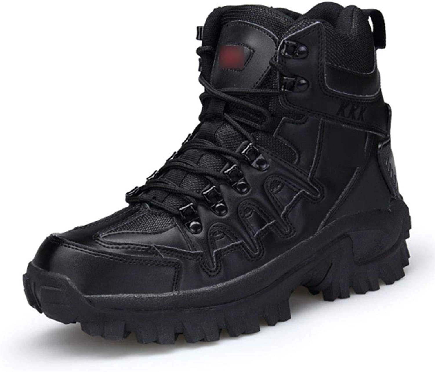 QIKAI Tactical Boots Zip High Tactical shoes Tactical Boots Outdoor Large Size Sand color Training Boots