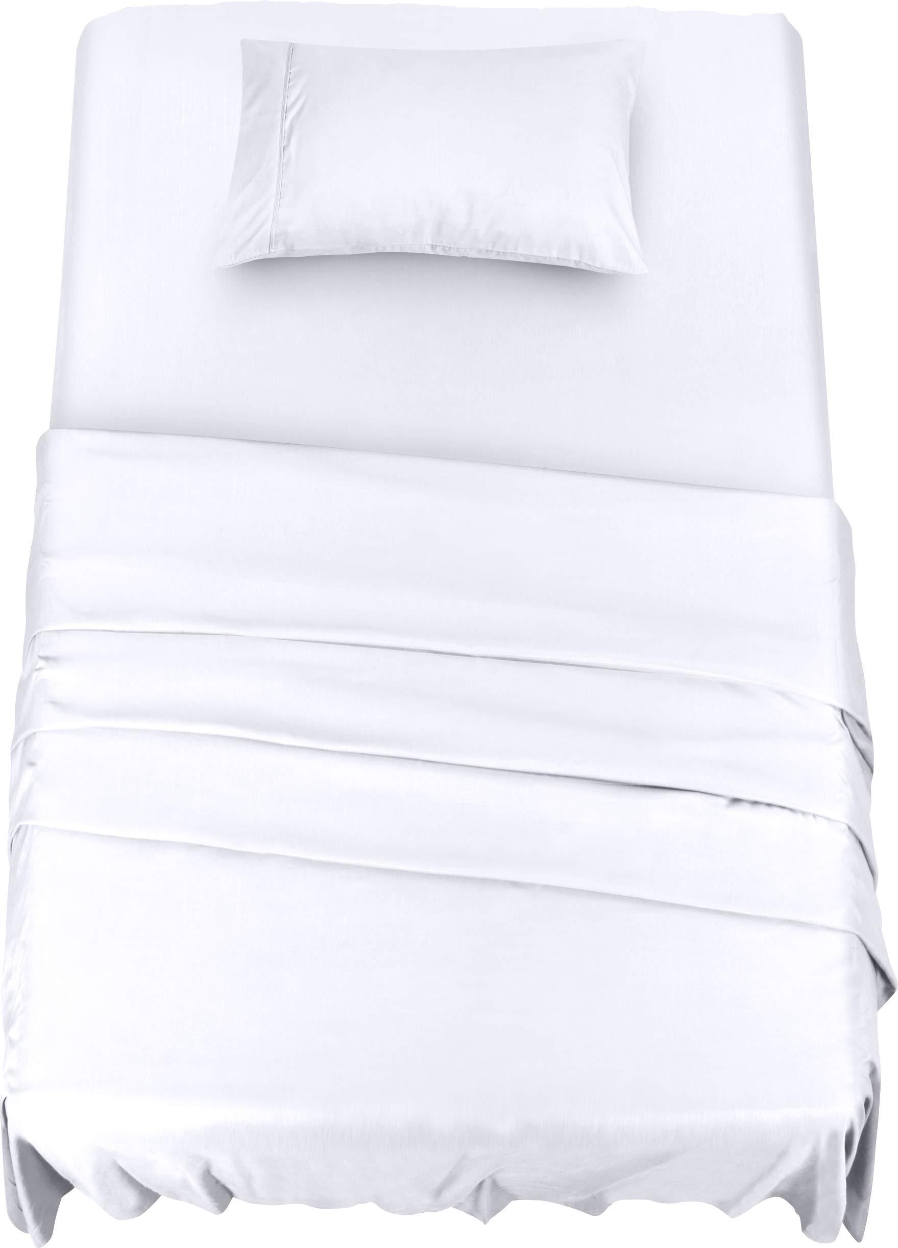 1 FULL SIZE SHEET SET bright white heavy brushed microfiber wrinklefree