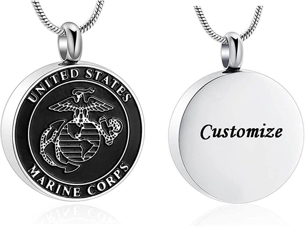 Cremation Jewelry for Men Stainless Marine States United C 40% OFF Cheap Sale Steel Easy-to-use