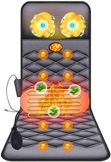 Cojín de masaje eléctrico con calefacción de cuerp Colchón de masaje de calefacción de cuerpo completo Colchón de masaje eléctrico multifunción Colchón de masaje eléctrico portátil for el hogar Calma