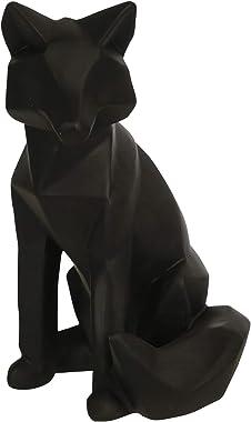 "Polyresin 10"" Fox Figurine, Black"