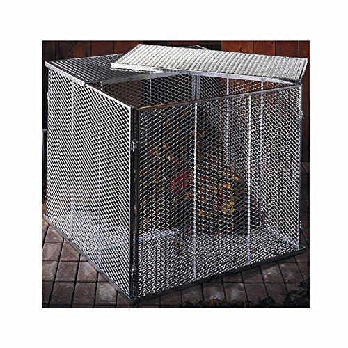 Komposter, Maße: 100x100x80cm feuerverzinkt, 4-teilig, Streckmetall