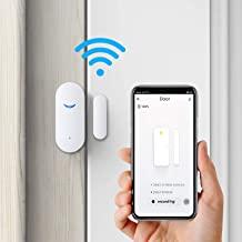 ردیاب سنسور درب WiFi 4 بسته ، زنگ ساعت بی سیم هوشمند پنجره بی سیم سازگار با دستیار Google Alexa ، درب منزل درب بازکننده سنسور تماس برای هشدار سرقت Bussiness
