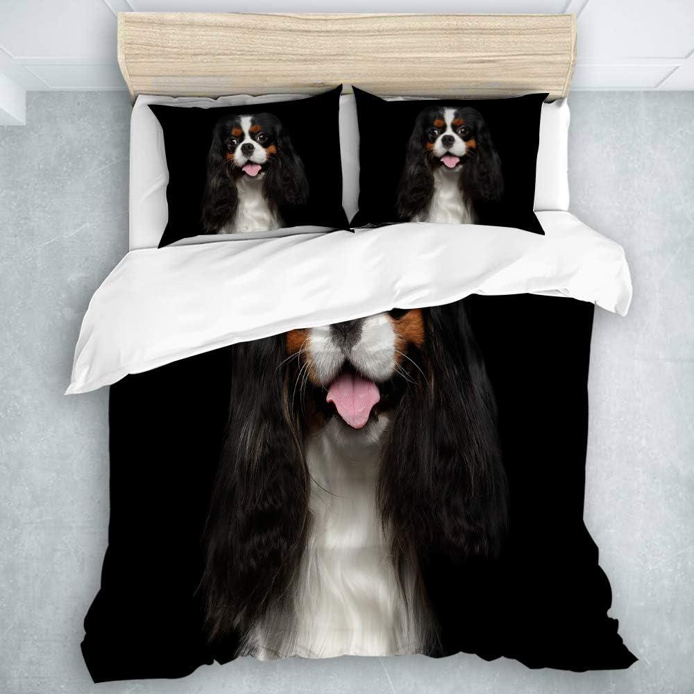 QINCO Duvet Cover Set Premium 当店は最高な サービスを提供します Dog. Charles King Spaniel Cavalier 最新号掲載アイテム