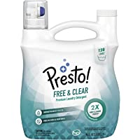 Presto! Free & Clear Concentrated Liquid Laundry Detergent, 128 Loads, 96 Fl Oz