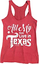 Anbech Womens All My Exes Live in Texas King George Strait Inspired Summer Racerback Tank Tops