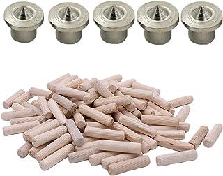 Kingsie ダボ用マーキングポンチ 8mm 5個 木ダボ 8*20mm 約100個 木工ダボ 家具 つなぎ DIY