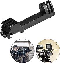 Universal Action Camera Gun Mount 2IN1 Picatinny Rail Mount Adapter Kit Compatible for Gopro Hero 7/6/5/4 SONY FDX HDR for Hunting Rifle Shotgun Pistol Carbine Airsoft Sports Camera Gun Rail Mount