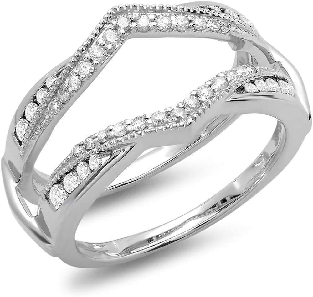 RUDRAFASHION 0.50 Carat Ctw Max 72% OFF 14K Gold Plated Popular product White Round