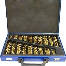 Aufun - Juego de brocas para metal (19 piezas, broca en espiral para madera, HSS, 1-10 mm, DIN 338, ángulo de punta 135°, HSS-G, cobalto, para todos los taladros convencionales)