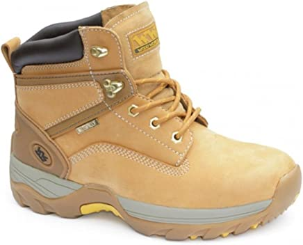 MENS HONEY STEEL TOE TRAINER WORK BOOTS WATERPROOF UK9