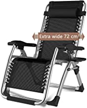High-quality recliner Sun Lounger Recliners Zero Gravity Sun Loungers, Patio Reclining Outdoor Folding Portable Rocking Chair Supports 200kg (Color : Silver)