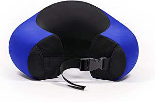 U-shaped Neck Pillow Office Nap Memory Foam Support Neck Head Cushion Portable Travel Pillow Lightweight Soft 4 Colors (Color : BLUE)