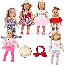 عروسک دختر آمریکایی تکشاخ 11 قطعه لباس عروسک دخترانه آمریکایی 18 اینچی لباس عروسک لباس عروسک girsl آمریکایی ، لوازم جانبی عروسک و لباس گراز عروسک girsl آمریکایی ، لوازم جانبی و لخته گلی عروسک آمریکایی girsl